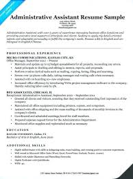 executive assistant resume templates exles of resumes for administrative assistant