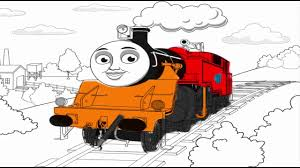new coloring pages thomas and friends learn the colors for