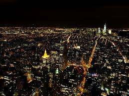 empire state building observation deck at night wallpaper