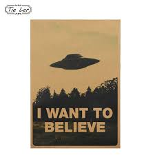 believe home decor 1pc vintage classic movie the poster i want to believe poster bar