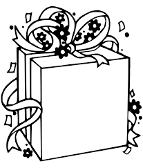 christmas gift box coloring pages getcoloringpages