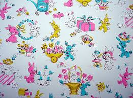 easter wrapping paper vintage easter wrapping paper with bunnies blempgorf flickr