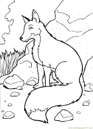 mammals coloring pages fox coloring page free fox coloring pages coloringpages101 com