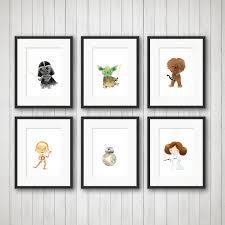 star wars nursery decor space wars prints boy u0027s room girls room art star