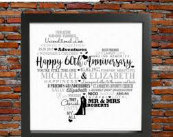 60th anniversary gifts lovely 60th wedding anniversary gift b94 in images gallery m40 with