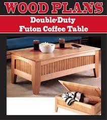 Futon Coffee Table Duty Futon Coffee Table Woodworking Paper Plan Pw10070