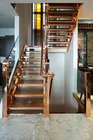 copper staircase the whole house has touches of glorious copper