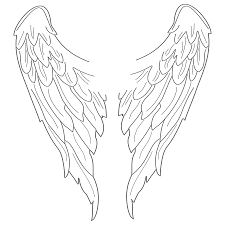 dark angel clipart simple wing pencil and in color dark angel