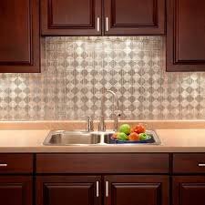 Backsplash In Kitchen 18 In X 24 In Traditional 1 Pvc Decorative Backsplash Panel In