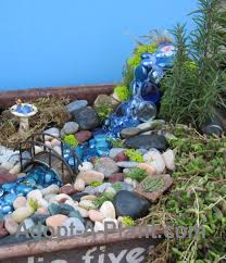 Large Pebbles For Garden Beach by A Waterfall For A Fairy Garden Some Big Glass Stones Glued