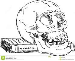 halloween bones background hand draw scull with bones stock illustration image 50377582