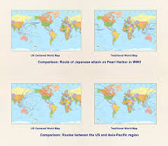 Pacific Region Map Amazon Com United States Centered World Map Laminated 53 5