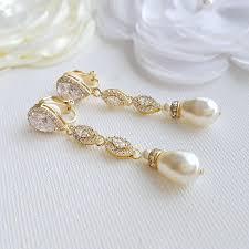 clip on bridal earrings clip on earrings poetrydesigns