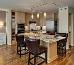 granite countertops kitchen island with bar lighting flooring