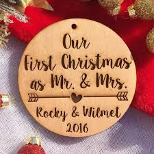 our as mr and mrs ornament personalized