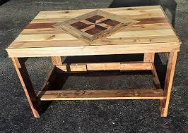 Table Top Ideas Some Unique Reclaimed Pallet Table Top Ideas