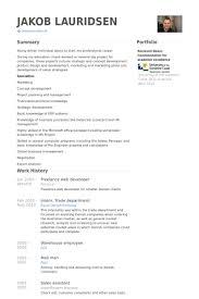 web developer resumes brilliant ideas of freelance web developer resume sles visualcv