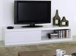 Black Tv Cabinet With Drawers Temahome Atoll Storage Tv Stand In Pure White Modern Chunky Low