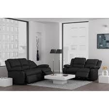 canapé cuir relax 3 places relax ensemble canapés de relaxation droits en cuir et simili 3 2
