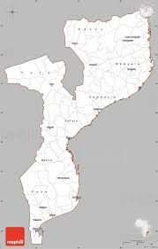 Mozambique Map Gray Simple Map Of Mozambique Cropped Outside
