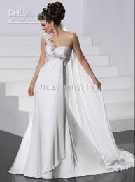 one shoulder wedding dresses 2011 2011 newest style white one shoulder goddess chiffon wedding