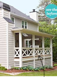 deck rail idea bhg april 2014 x rail outside pinterest
