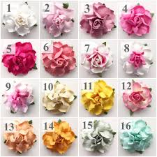 paper flowers succulent bloom place card holders in 22 custom colors kara s