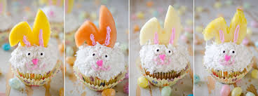 Decorate Easter Bunny Cupcakes by Light Coconut Cream Easter Bunny Cupcakes
