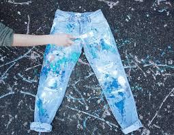 splatter paint jeans ilovetocreate