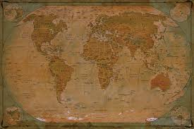 antique map world historical world map poster wall picture
