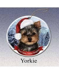 deal alert pet gifts yorkie santa hat porcelain