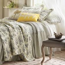 Shams Bedding Ticking Stripe Ruffled Bedspread And Shams Montgomery Ward