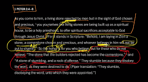 1 peter 2 4 u20138 part 2 they were destined to disobey god