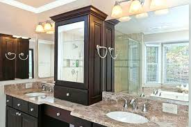 double sink vanity with middle tower double vanity with center tower bathroom other collections of