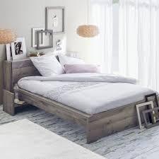alinea chambre lit coloris chêne cendré 140x190cm imitation chêne cendré