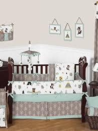 Honey Bear Crib Bedding by Pink Owl Bird 7pcs Crib Set Baby Bedding Set Crib Bedding Set
