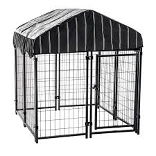 cl l home depot lucky dog 52 in h x 4 ft w x 4 ft l pet resort kennel with cover