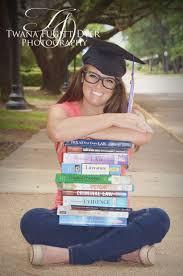 book for high school graduate senior portrait photo picture idea graduation cap