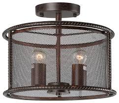 industrial semi flush mount lighting fabulous flush mount industrial light shop houzz lnc 2 light semi