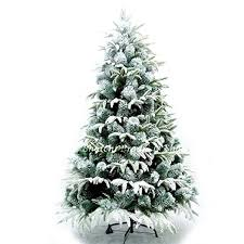 8ft 240cm artificial tree snow covered home