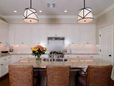 Transitional White Kitchen - guide to creating a transitional kitchen hgtv