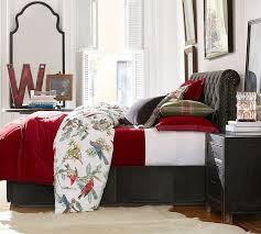 Red Bedding Velvet Comforter U0026 Sham Ruby Pottery Barn