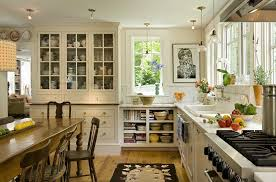 kitchen cabinets around refrigerator farmhouse with china cabinet