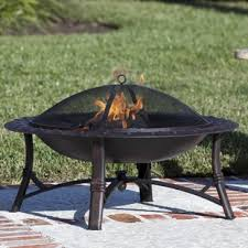 Wood Firepit Outdoor Fireplaces Pits You Ll Wayfair