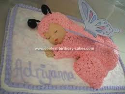 cakes for baby showers sleeping baby cake with butterfly wings for a baby shower