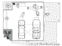 floor plan w optional attached garagedetached garage plans free