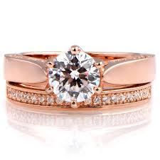 engagement jewelry sets tatiana s 1 25ct goldtone cz wedding ring set