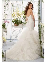 mori wedding dress mori 5409 lace mermaid wedding dress with flounced organza