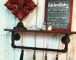 Industrial Kitchen Shelving by Kitchen Shelf Etsy