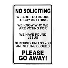 amazon com funny no soliciting go away front door sign home